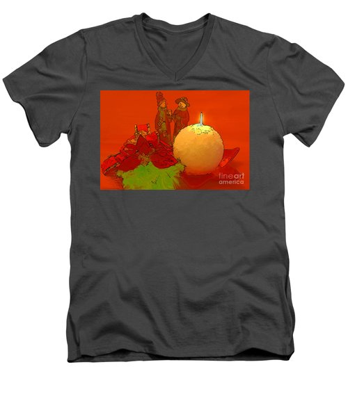 Men's V-Neck T-Shirt featuring the photograph Merry Christmas by Teresa Zieba