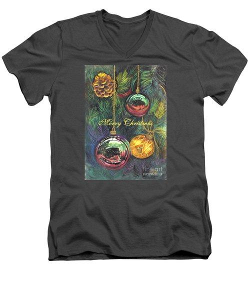 Merry Christmas Wishes Men's V-Neck T-Shirt