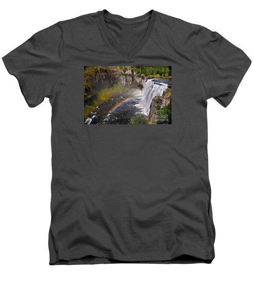 Mesa Falls Men's V-Neck T-Shirt by Robert Bales