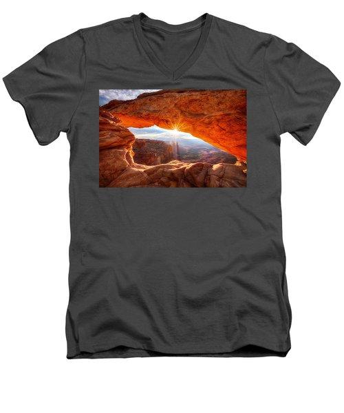 Mesa's Sunrise Men's V-Neck T-Shirt