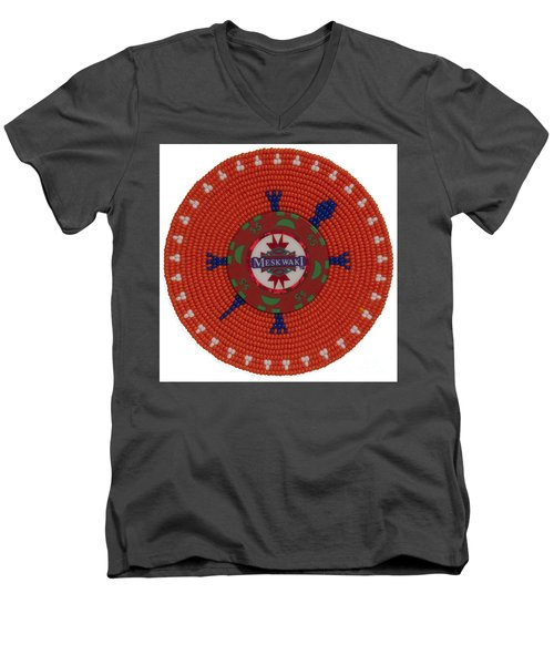 Meskwaki Orange Men's V-Neck T-Shirt