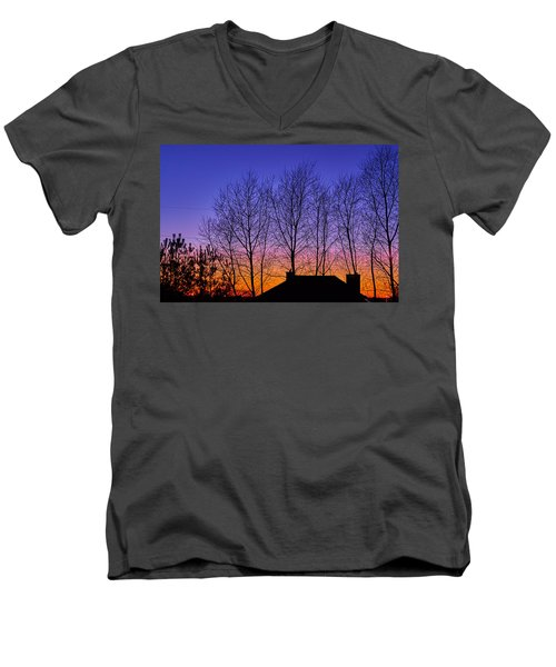 Miami Sky Men's V-Neck T-Shirt