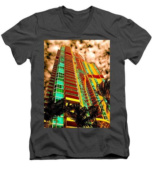 Miami South Pointe II Highrise Men's V-Neck T-Shirt