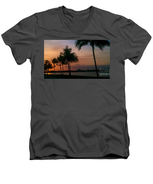 Miami Sunset Men's V-Neck T-Shirt