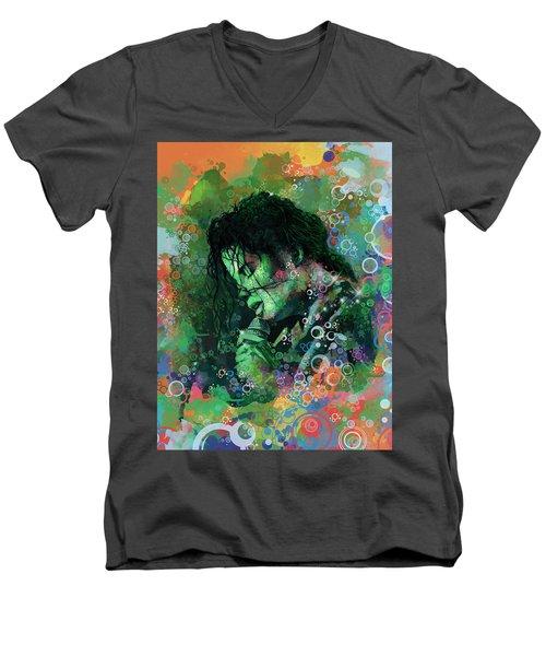 Michael Jackson 15 Men's V-Neck T-Shirt by Bekim Art
