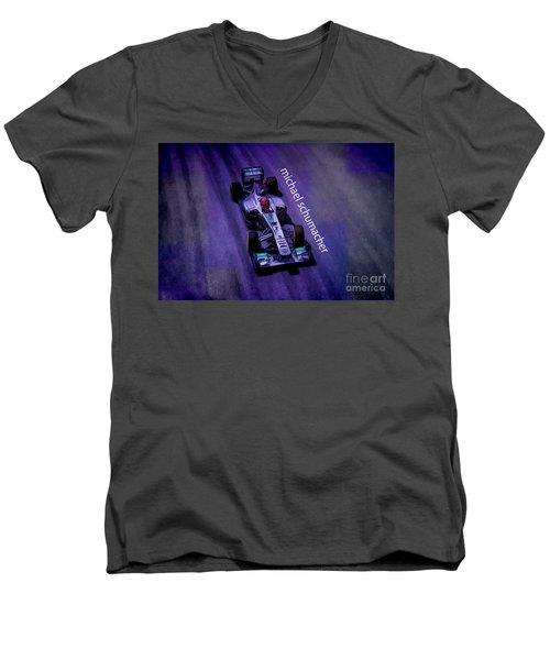 Michael Schumacher Men's V-Neck T-Shirt by Marvin Spates