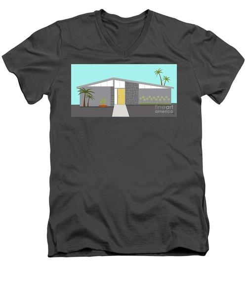 Mid Century Modern House 2 Men's V-Neck T-Shirt