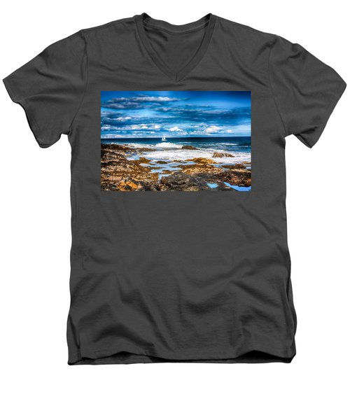 Midday Sail Men's V-Neck T-Shirt