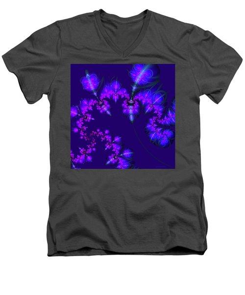 Midnight Blossoms Men's V-Neck T-Shirt