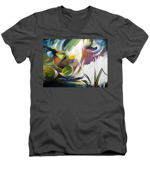 Midnight On The Bayou Men's V-Neck T-Shirt