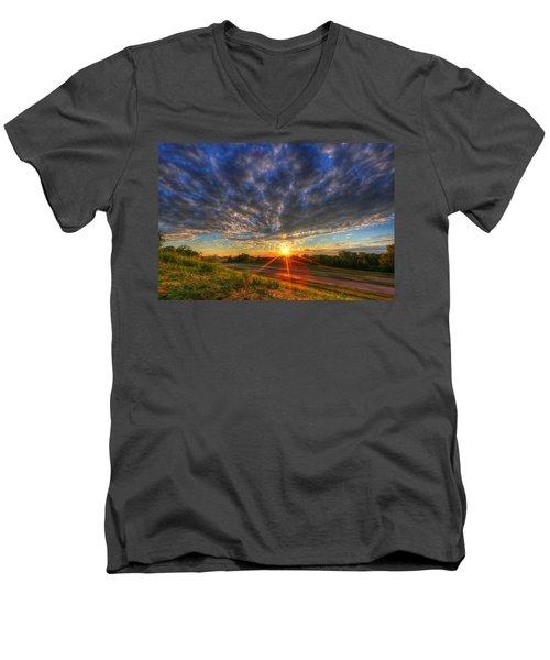 Midwest Sunset After A Storm Men's V-Neck T-Shirt
