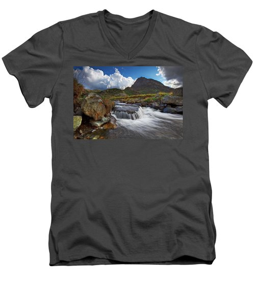 Mighty Tryfan  Men's V-Neck T-Shirt