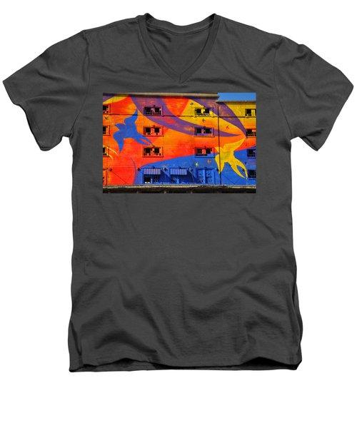 Migrate Detail 2 Men's V-Neck T-Shirt