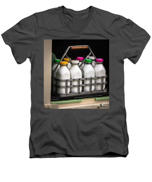 Milk Bottles Men's V-Neck T-Shirt