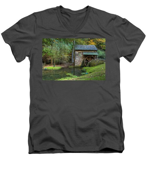 Mill Pond In Woods Men's V-Neck T-Shirt