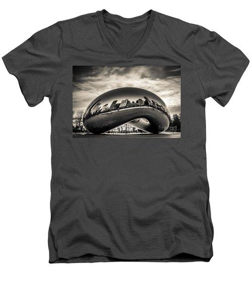 Millenium Bean  Men's V-Neck T-Shirt