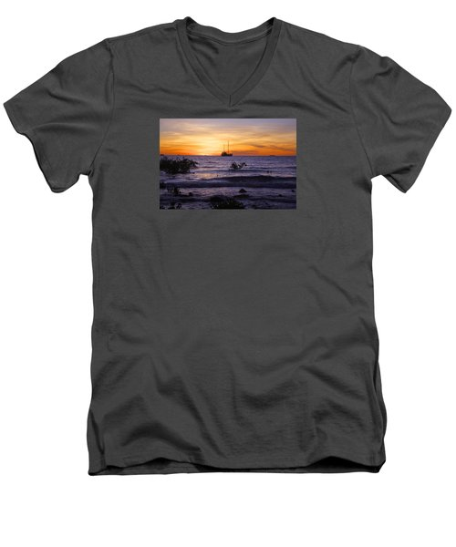 Mindil Beach Sunset Men's V-Neck T-Shirt by Venetia Featherstone-Witty