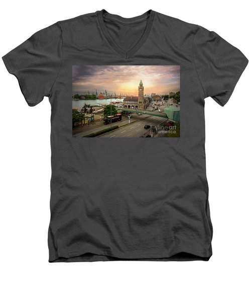 Miniature Hamburg Men's V-Neck T-Shirt