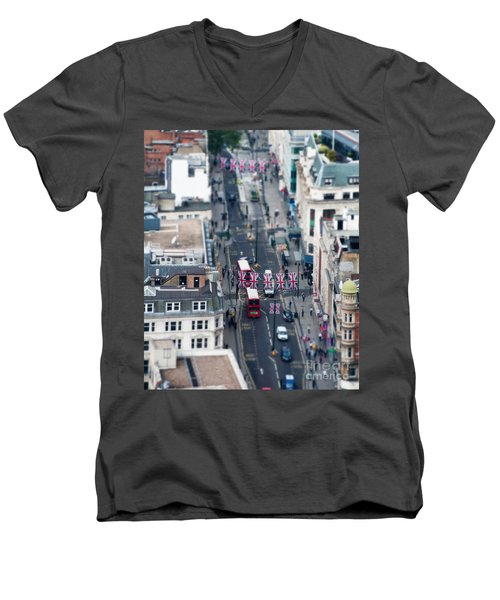 Miniature Oxford Street Men's V-Neck T-Shirt