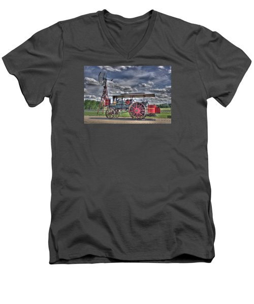 Minneapolis At The Windmill Men's V-Neck T-Shirt by Shelly Gunderson