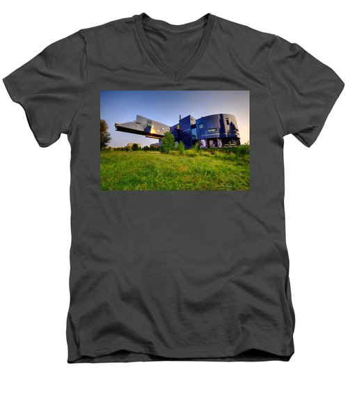 Minneapolis Guthrie Theater Summer Evening Men's V-Neck T-Shirt