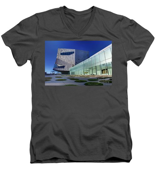 Minneapolis Skyline Photography Walker Art Museum Men's V-Neck T-Shirt
