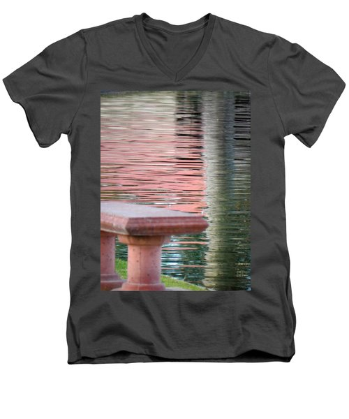 Men's V-Neck T-Shirt featuring the photograph Mirror To The Soul by Deb Halloran
