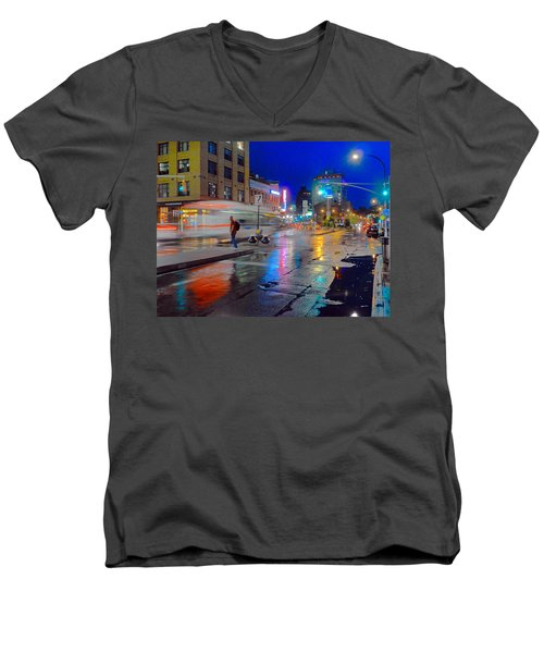 Missed The Bus Men's V-Neck T-Shirt