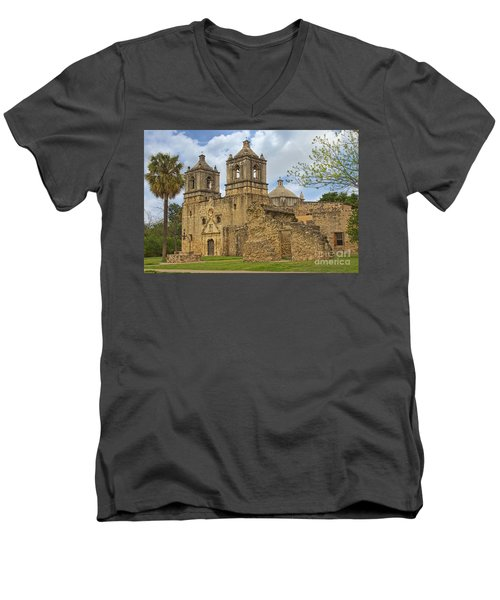 Mission Concepcion Men's V-Neck T-Shirt