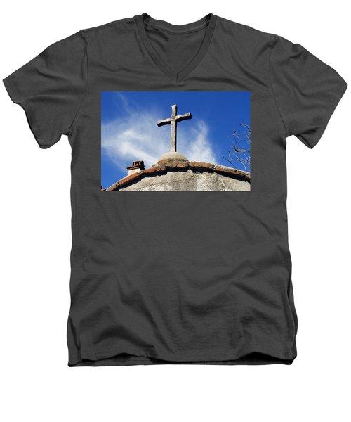 Mission Cross Men's V-Neck T-Shirt by Shoal Hollingsworth