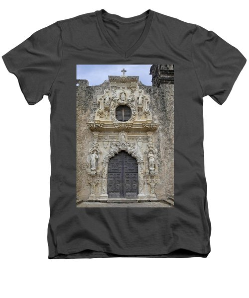 Mission San Jose Doorway Men's V-Neck T-Shirt