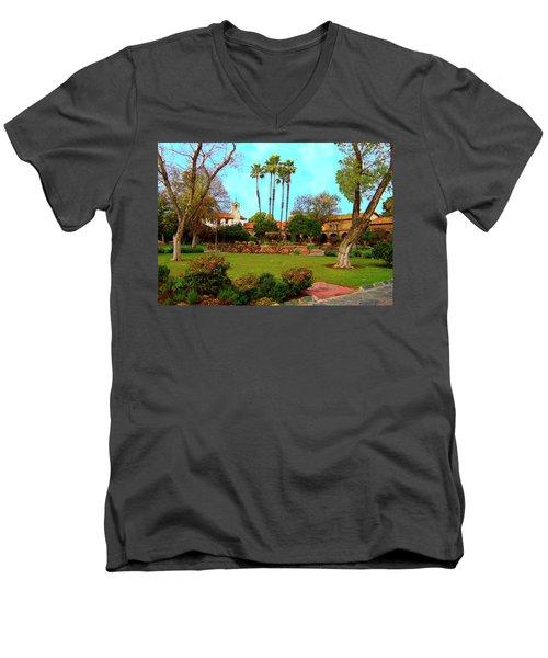 Mission San Juan Capistrano No 11 Men's V-Neck T-Shirt