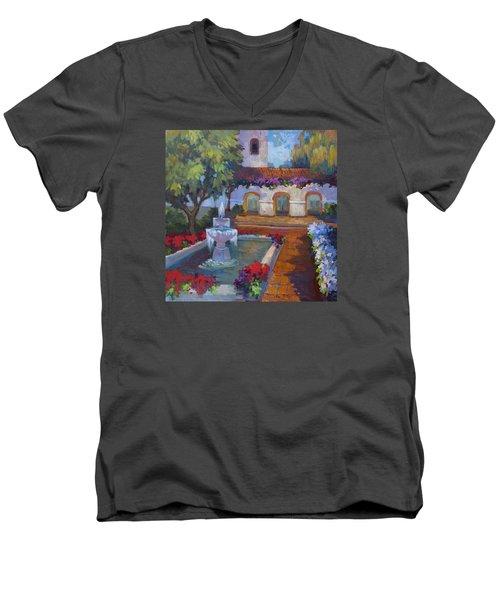 Mission Via Dolorosa Men's V-Neck T-Shirt by Diane McClary