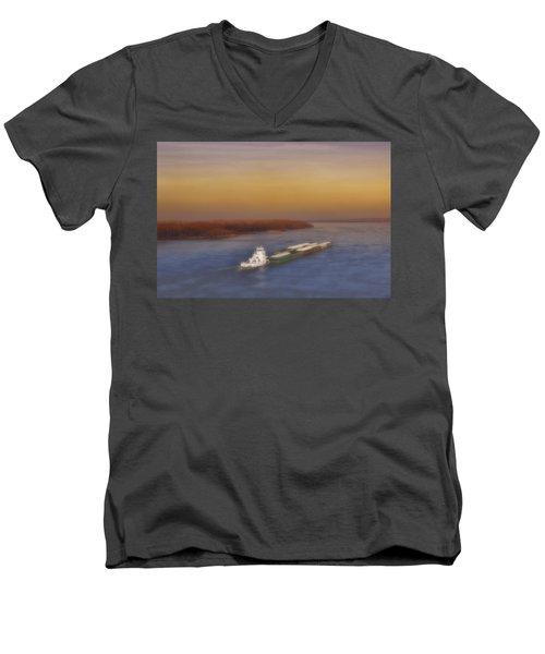 Mississippi Sunset Men's V-Neck T-Shirt