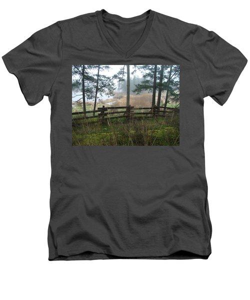 Misty Flats Men's V-Neck T-Shirt by Cheryl Hoyle