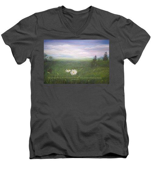 Misty Meadow Isaiah  Men's V-Neck T-Shirt