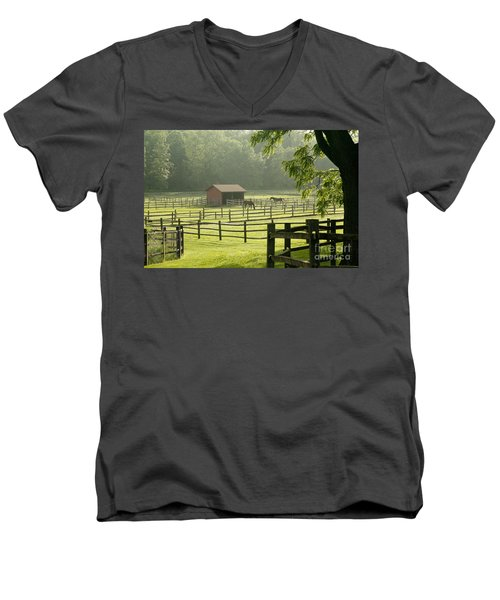 Misty Morning Maze Men's V-Neck T-Shirt