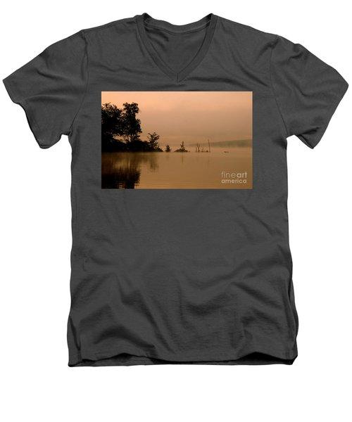 Misty Morning Solitude  Men's V-Neck T-Shirt