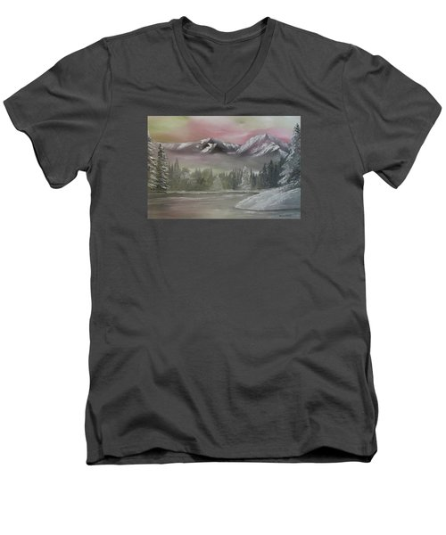 Misty Winter Men's V-Neck T-Shirt