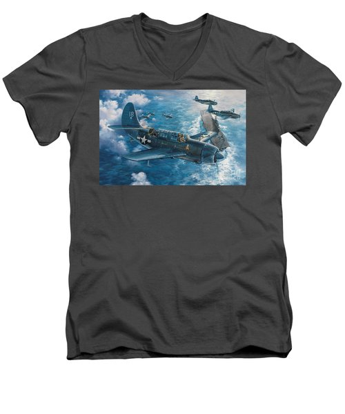 Mitscher's Hunt For The Rising Sun Men's V-Neck T-Shirt