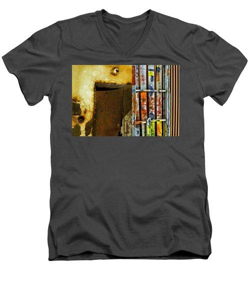 Mixed Elements Two Men's V-Neck T-Shirt