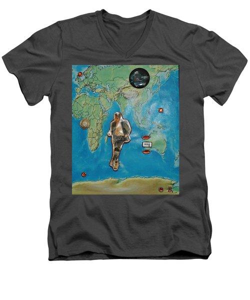 Mj Rock With You Men's V-Neck T-Shirt