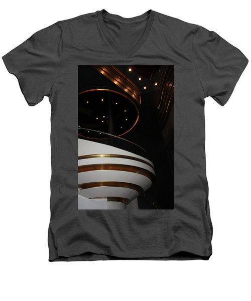 Men's V-Neck T-Shirt featuring the photograph Modern Loge by Kristin Elmquist