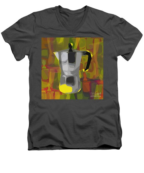 Moka Pot Men's V-Neck T-Shirt