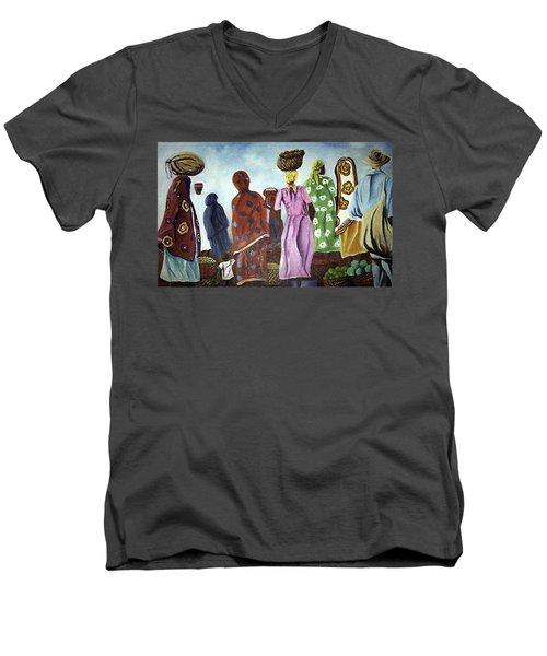 Mombasa Market Men's V-Neck T-Shirt
