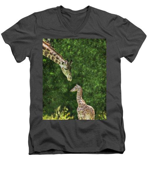 Momma Loves Me Men's V-Neck T-Shirt