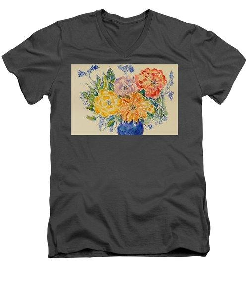 Bouquet Of Love Men's V-Neck T-Shirt