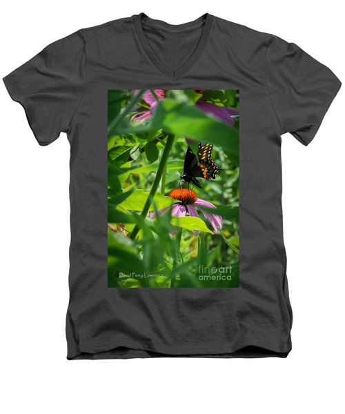 Monarch Butterfly Deep In The Jungle Men's V-Neck T-Shirt