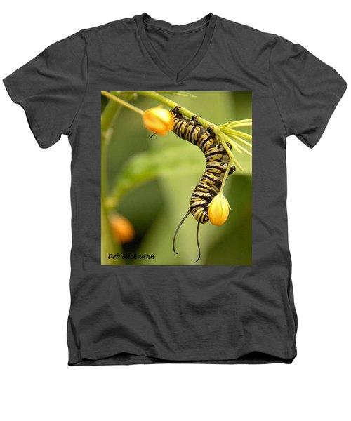Monarch Caterpillar Men's V-Neck T-Shirt