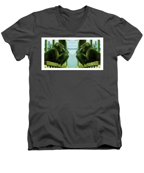 Monkey See Monkey Do Men's V-Neck T-Shirt